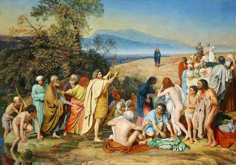 Alexander Ivanov. The appearance of Christ to the People.