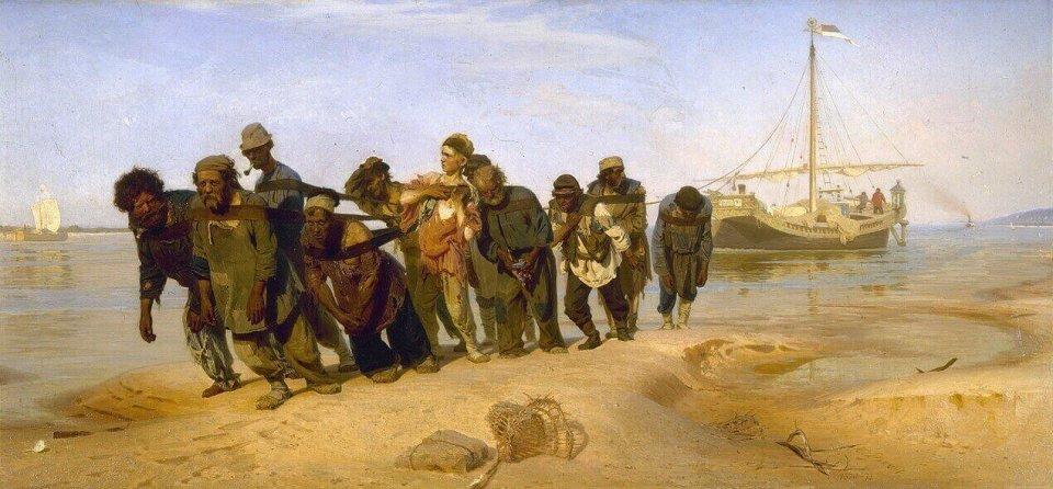 Ilya Repin. Barge Haulers on the Volga.