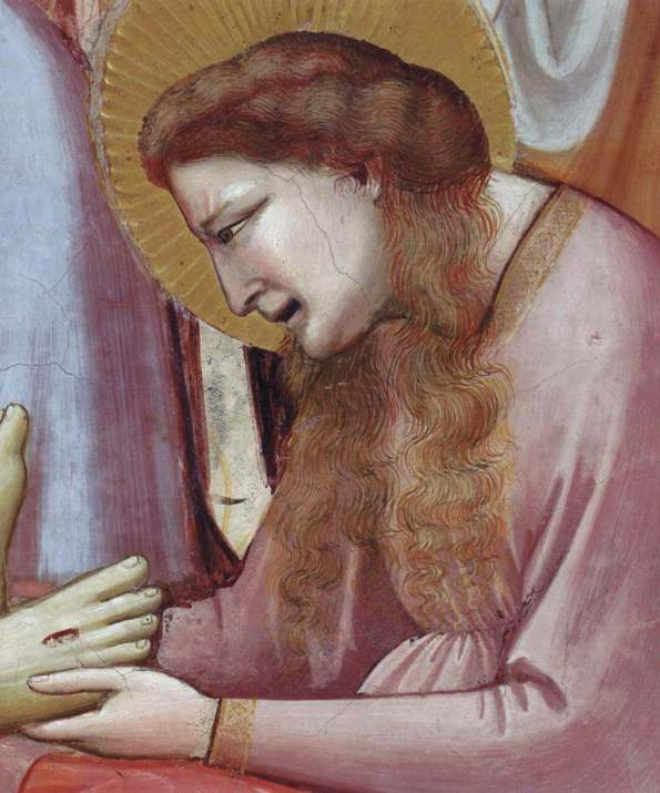 Giotto. Mourning for Christ. Fragment. 1303-1305.