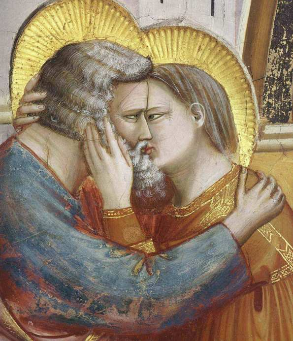 Giotto. Meeting at the Golden Gate. Fragment. 1303-1305.