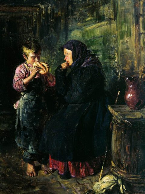 Vladimir Makovsky. A Mother's Visit.