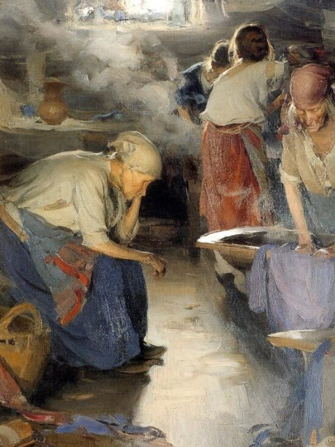 Abraham Arhipov. The Laundresses. The State Tretyakov Gallery, Moscow.