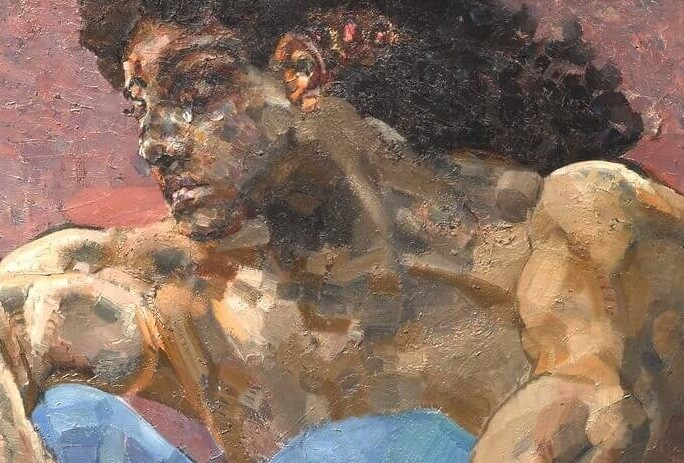 "Mikhail Vrubel. The Demon Seated (Detail of ""Demon's Face"")."