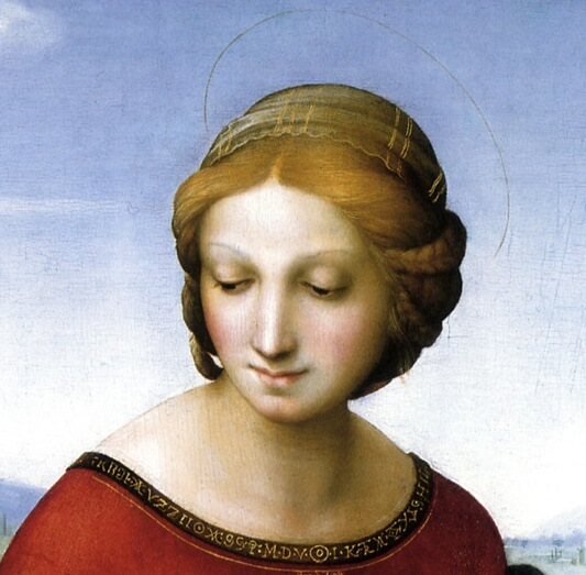 Raphael. Madonna in the Meadow.