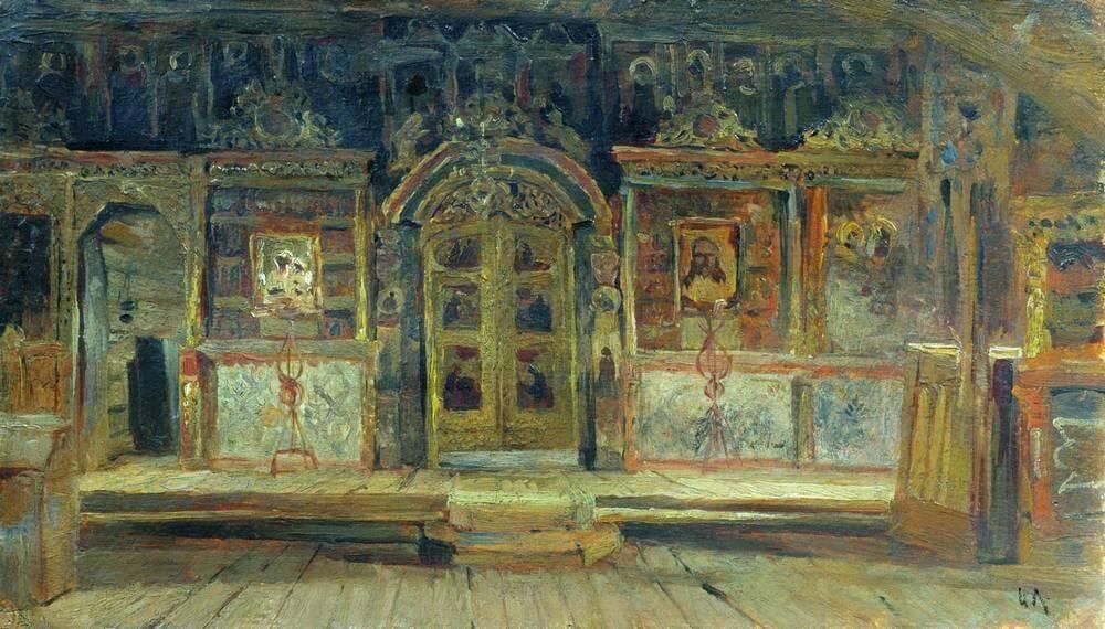 Isaak Levitan. Inside Peter and Paul church.
