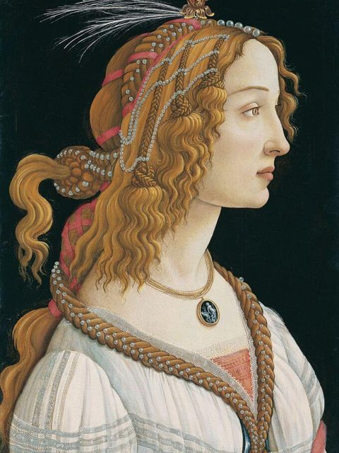 Sandro Botticelli. Portrait of a Young Woman.