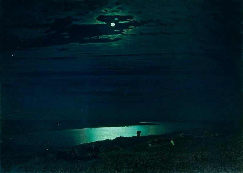 Arkhip Kuindzhi. Moonlight Night on the Dnieper.