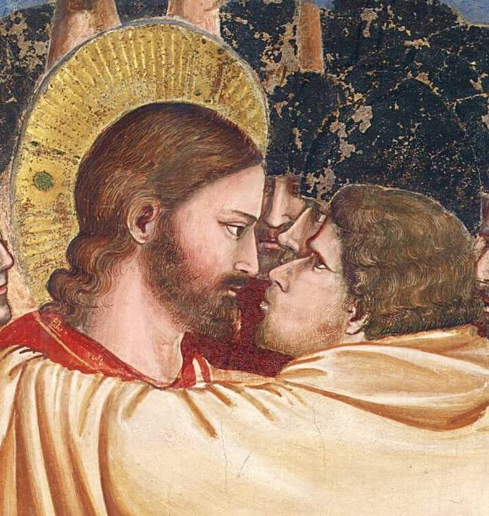Giotto. Kiss of Judas (detail).