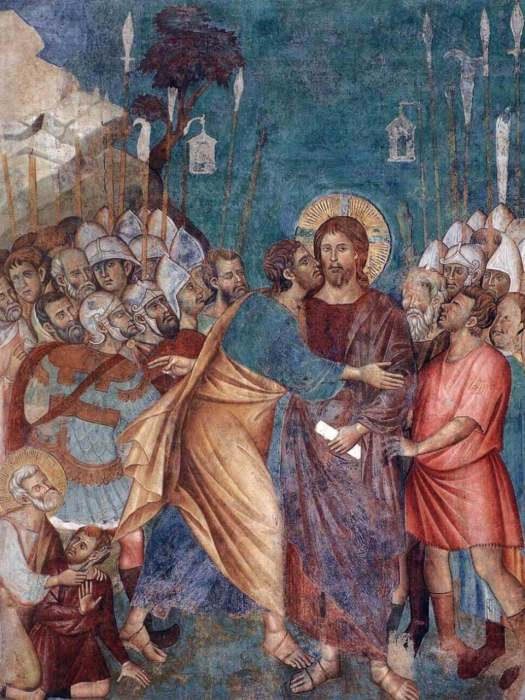 Cimabue. Kiss of Judas