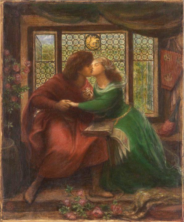 Gabriel Rossetti. Francesca and Paolo.