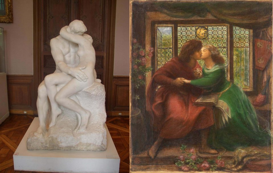 Comparison of images of Francesca and Paolo