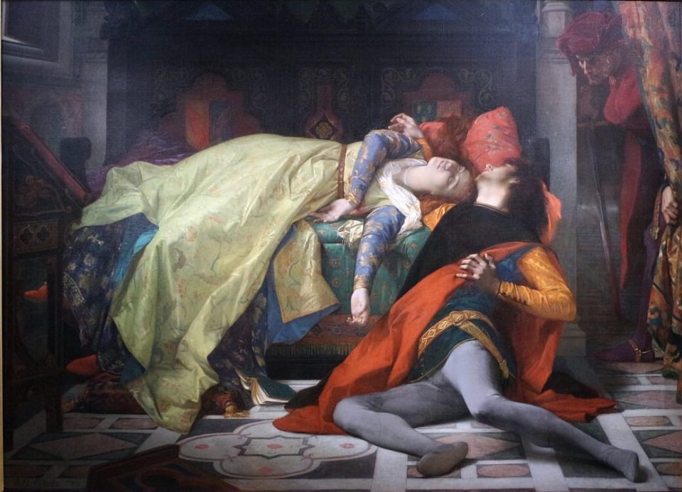 Alexander Cabanel. Death of Francesca and Paolo.