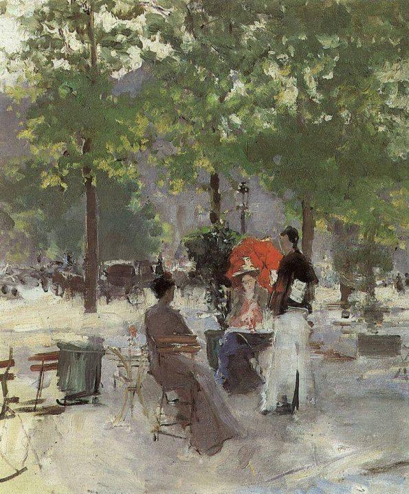 Konstantin Korovin. Parisian cafe.