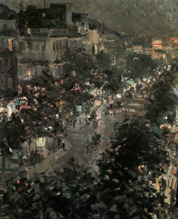 Konstantin Korovin. Italian boulevard.