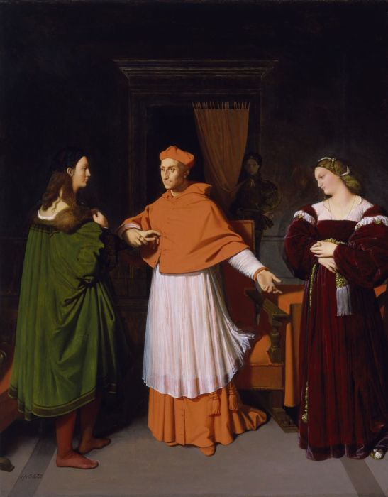 Ingres. The betrothal of Raphael and the niece of Cardinal Bibbien.