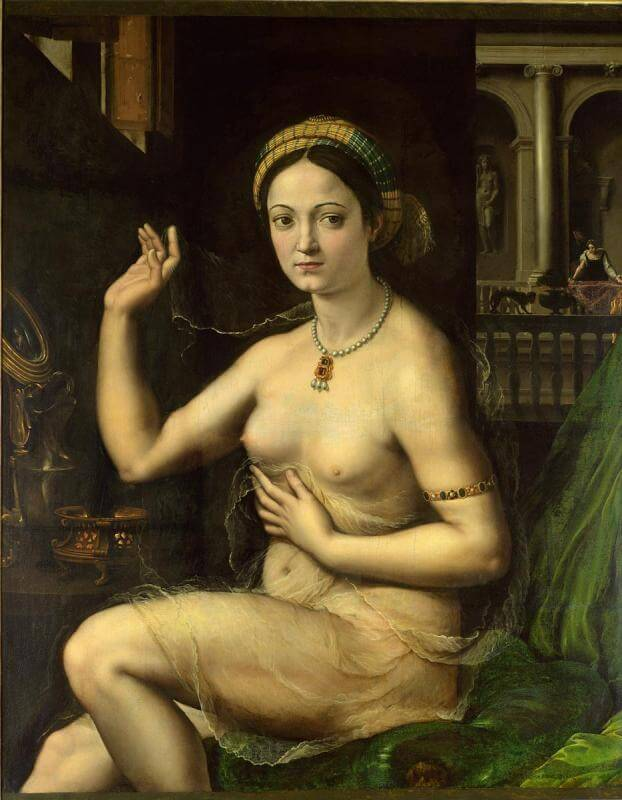 Giulio Pippi (Romano). The woman behind the toilet
