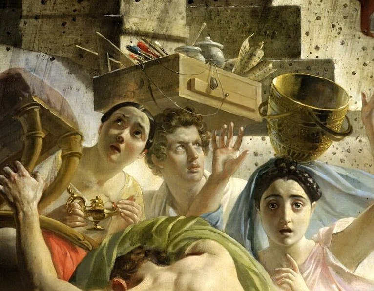 Karl Bryullov. The last day of Pompeii. Fragment (self-portrait of the artist)