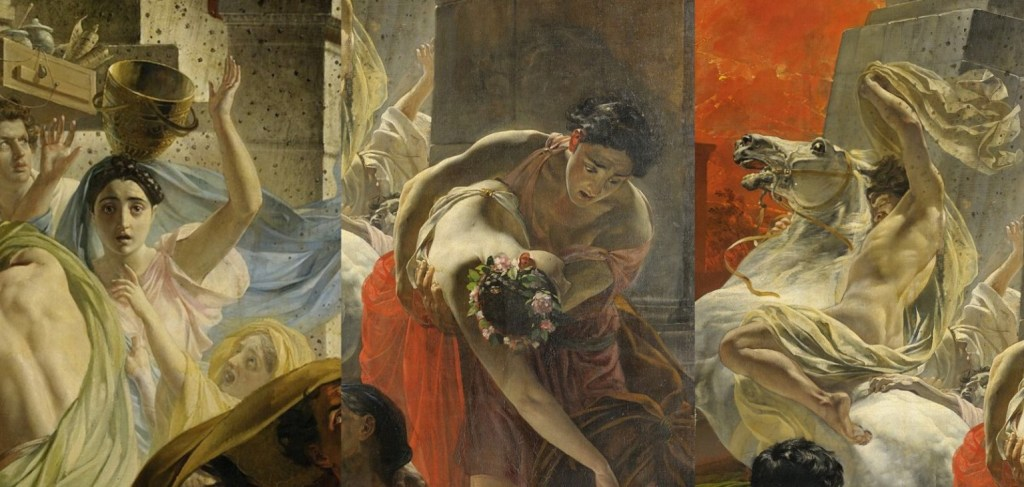 Karl Bryullov. The last day of Pompeii. Fragments