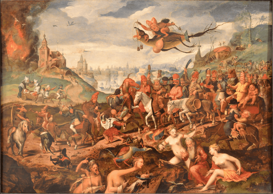 Pieter Bruegel the Younger. The temptation of St. Anthony. 1600. Private collection. Wikiart.org.