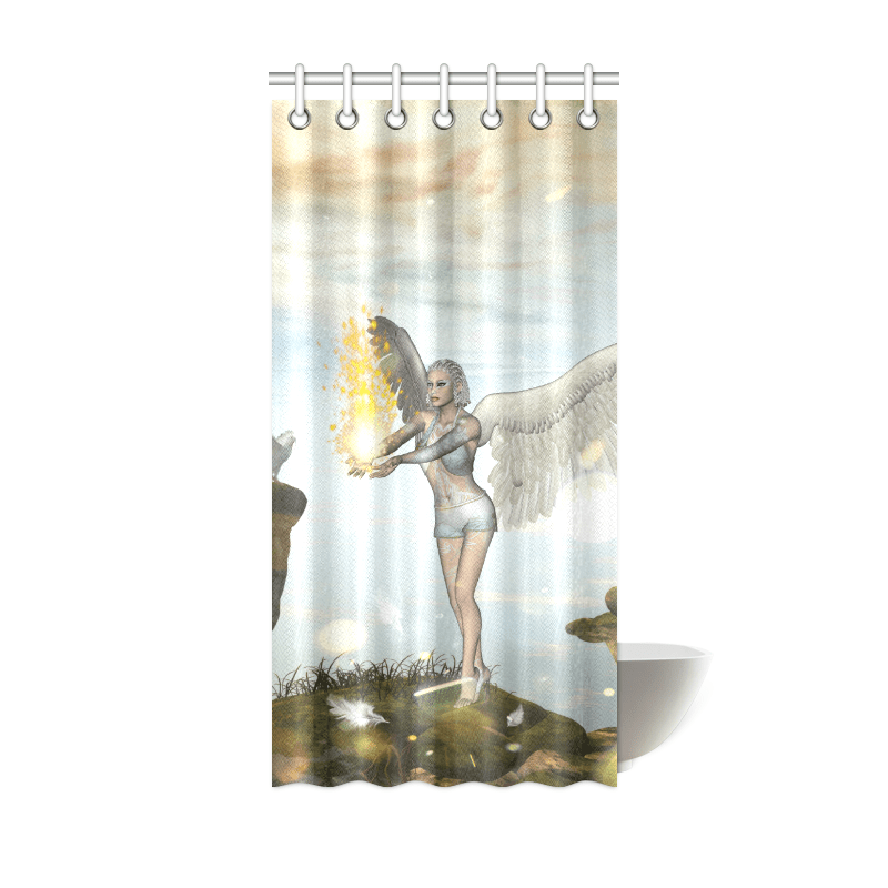 beautiful fairy shower curtain 36 x72 id d2619411
