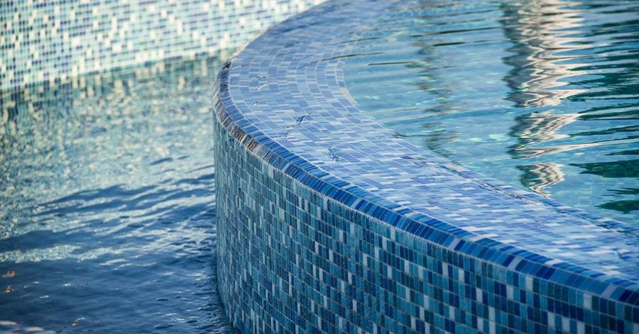 glass tile mosaics for pools