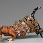 Jodi Colella (Sculpture/Installation/New Genres Fellow 19), MANEATER II (2016), reconstructed toy, taxidermy, mixed fibers, weaving, 8x13x12 in.
