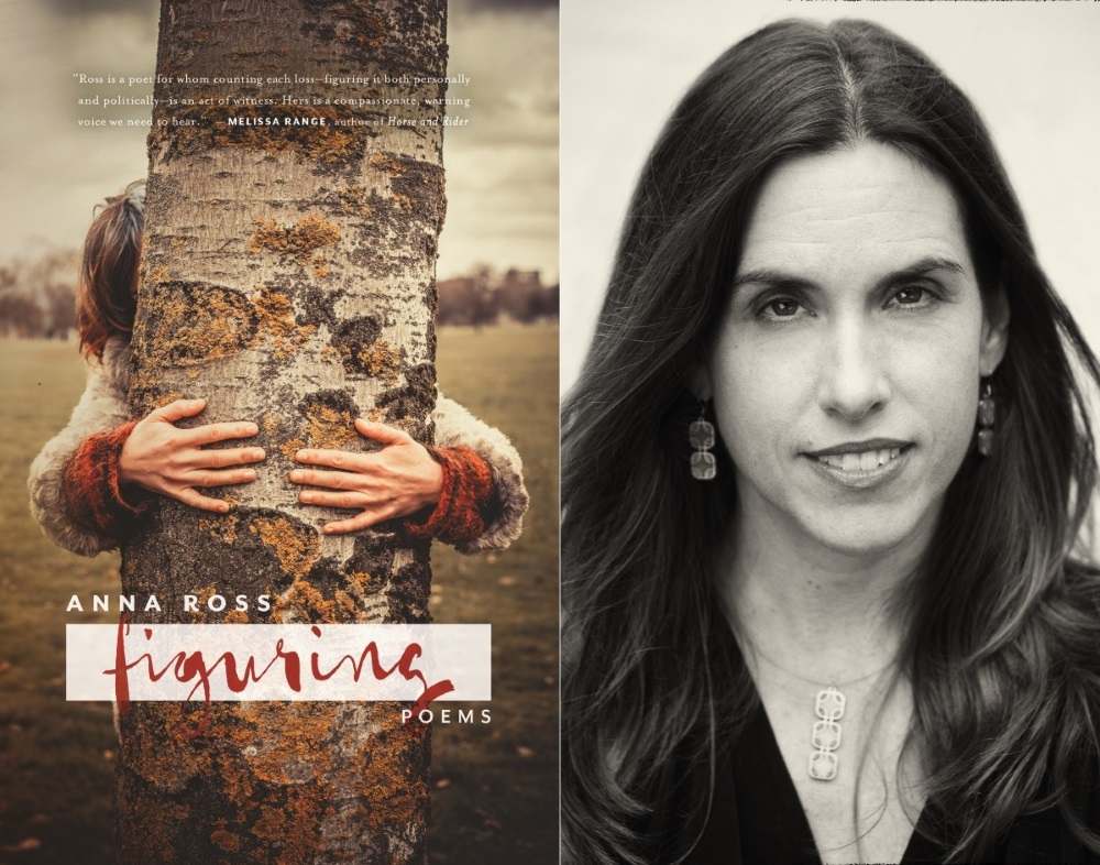 (Left) Cover art for FIGURING (Bull City Press) by Anna VQ Ross (right).