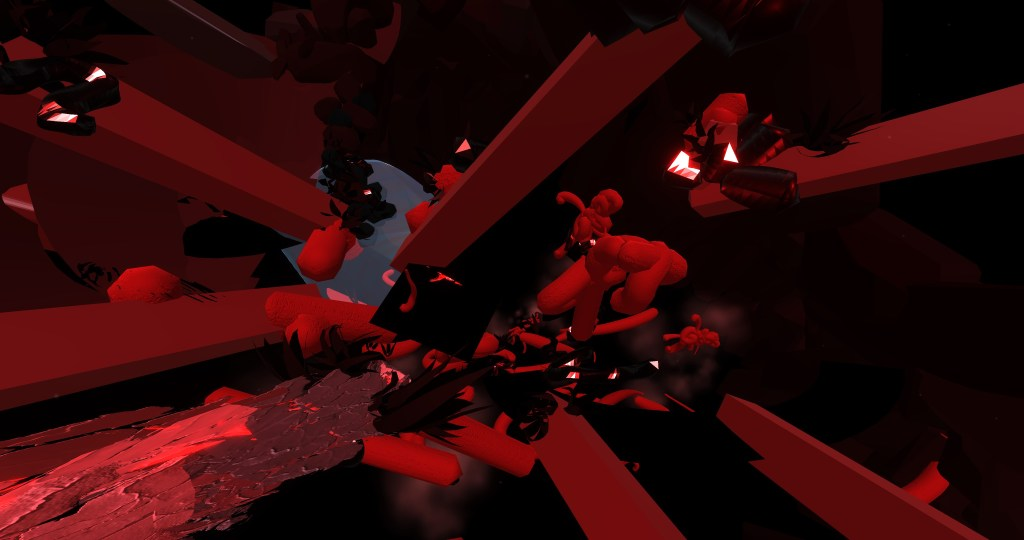 Still image from immersive media by artist Wen Yu.