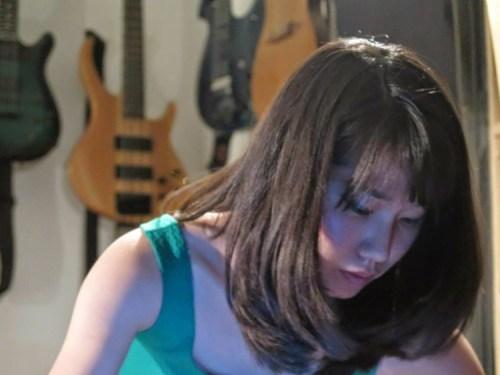Yoon-Ji Lee (Music Composition Fellow '21) at work, photo credit: Spectrum.