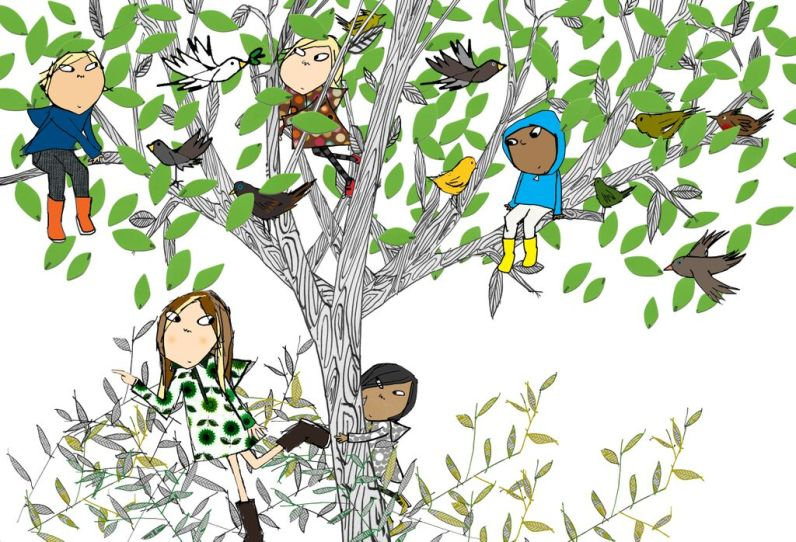Children in Mottisfont's plane tree (c) Lauren Child