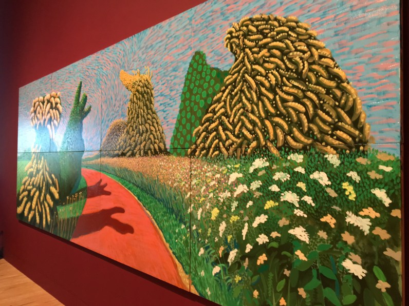 David Hockney The Wolds May Blossom on the Roman Road taken in situ at Tate Britain © Phillipa Ellis Arts Aloud
