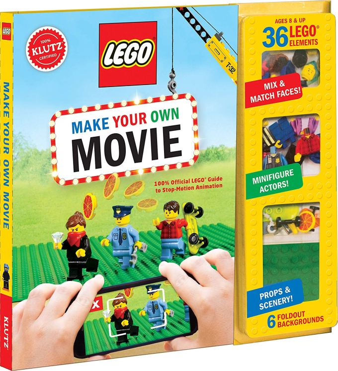 "Lego Gift Idea: We found this great LEGO activity book, ""Make Your Own Movie"" at our school book fair and we've had quite a bit of fun building and recording our own Stop-Motion animations. The book includes scenery, props, and very helpful instructions for inspiring young movie producers!"