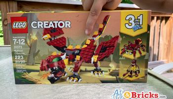 Kid Review of LEGO Creator 3in1 Mythical Creatures 31073 Building Kit