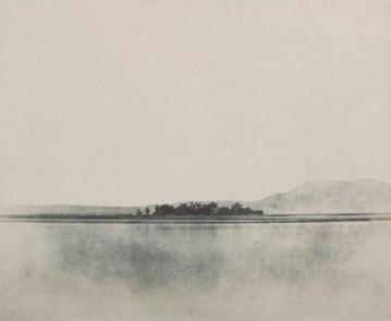 John Beasly Greene, Village de Gezireh, Thèbes (1854)