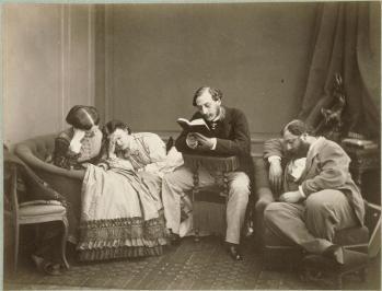 Olympe Aguado, La Lecture, 1863
