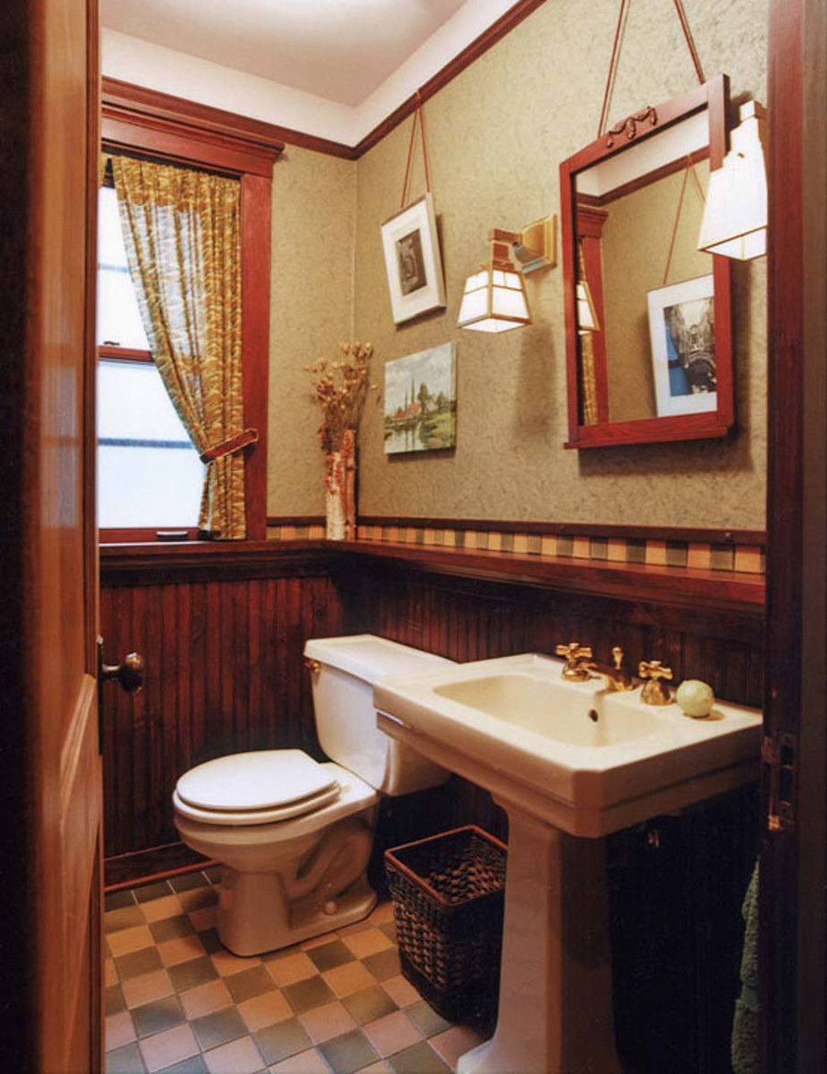 Bathrooms With Character  Design for the Arts  Crafts House  Arts  Crafts Homes Online