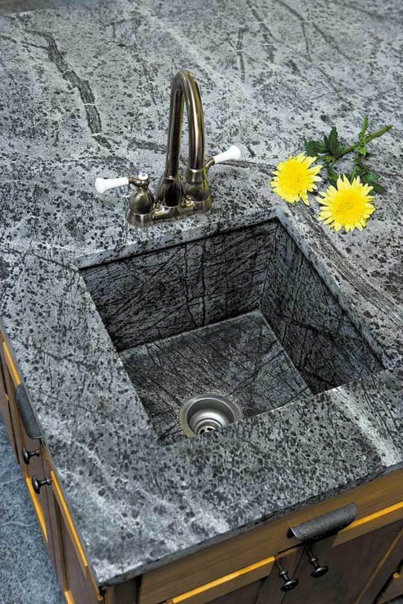 countertop sink backsplash design