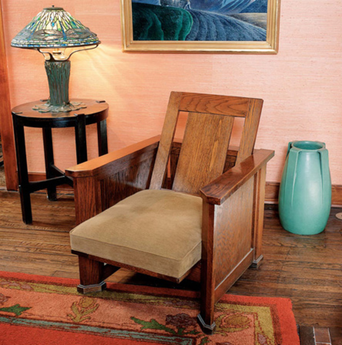 morris chairs for sale best posture chair uk evolution of the design arts crafts house frank lloyd wright s version translated to a prairie school