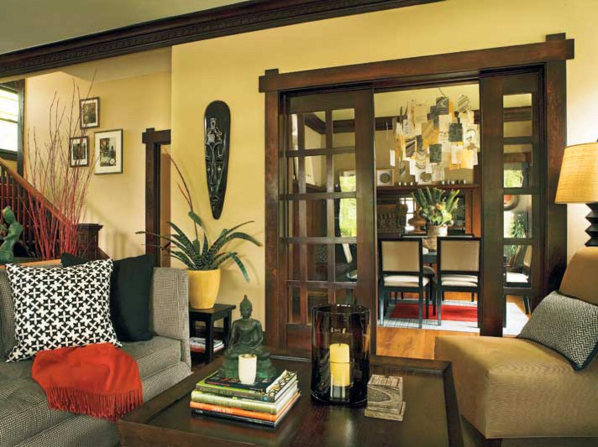 Sliding Pocket Doors  Design for the Arts  Crafts House