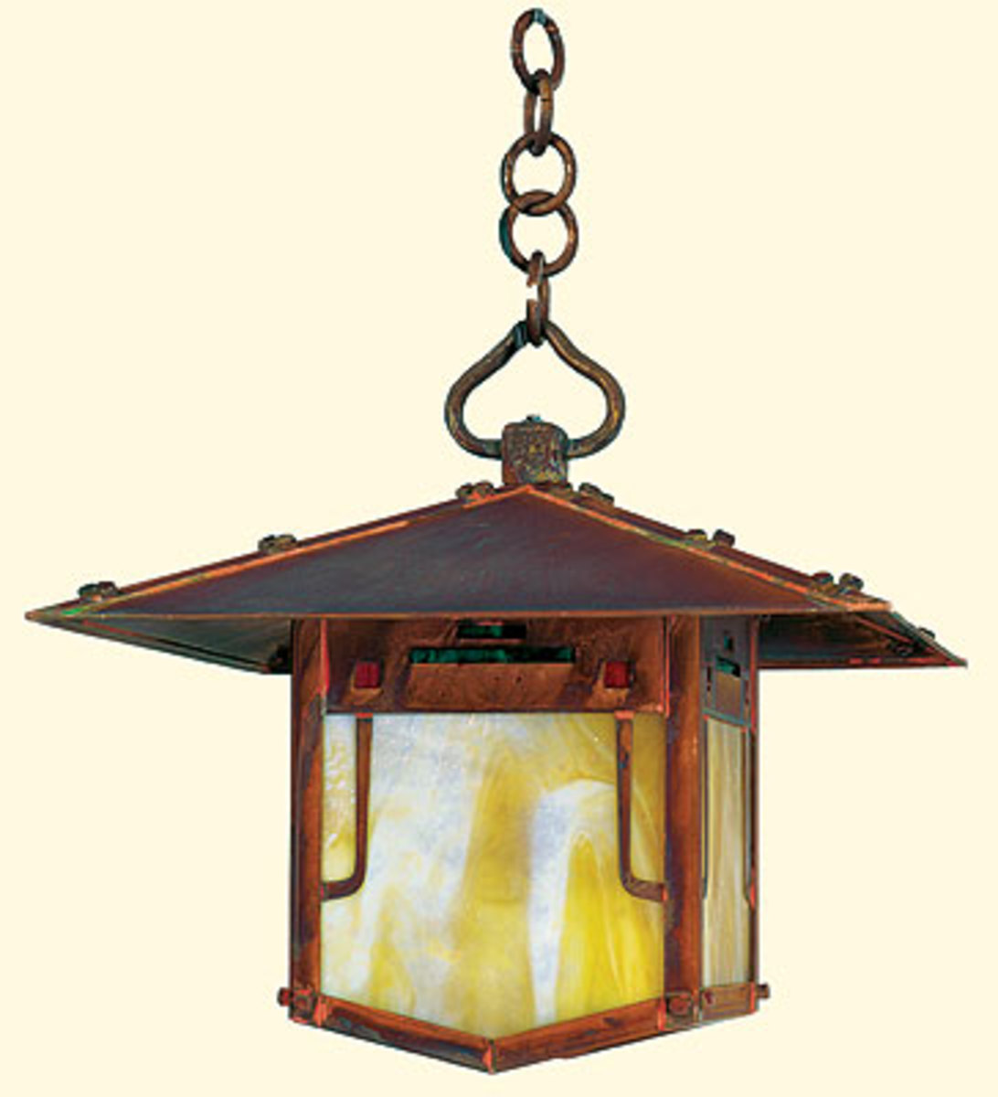 lamps lighting inside and out