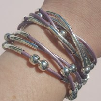 Metallic Lavendar Leather Cord: Just Another Gorgeous Nerd