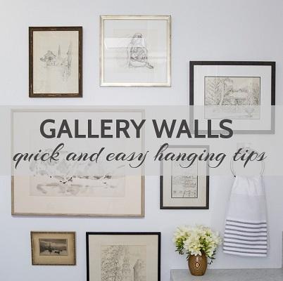 how to hang art