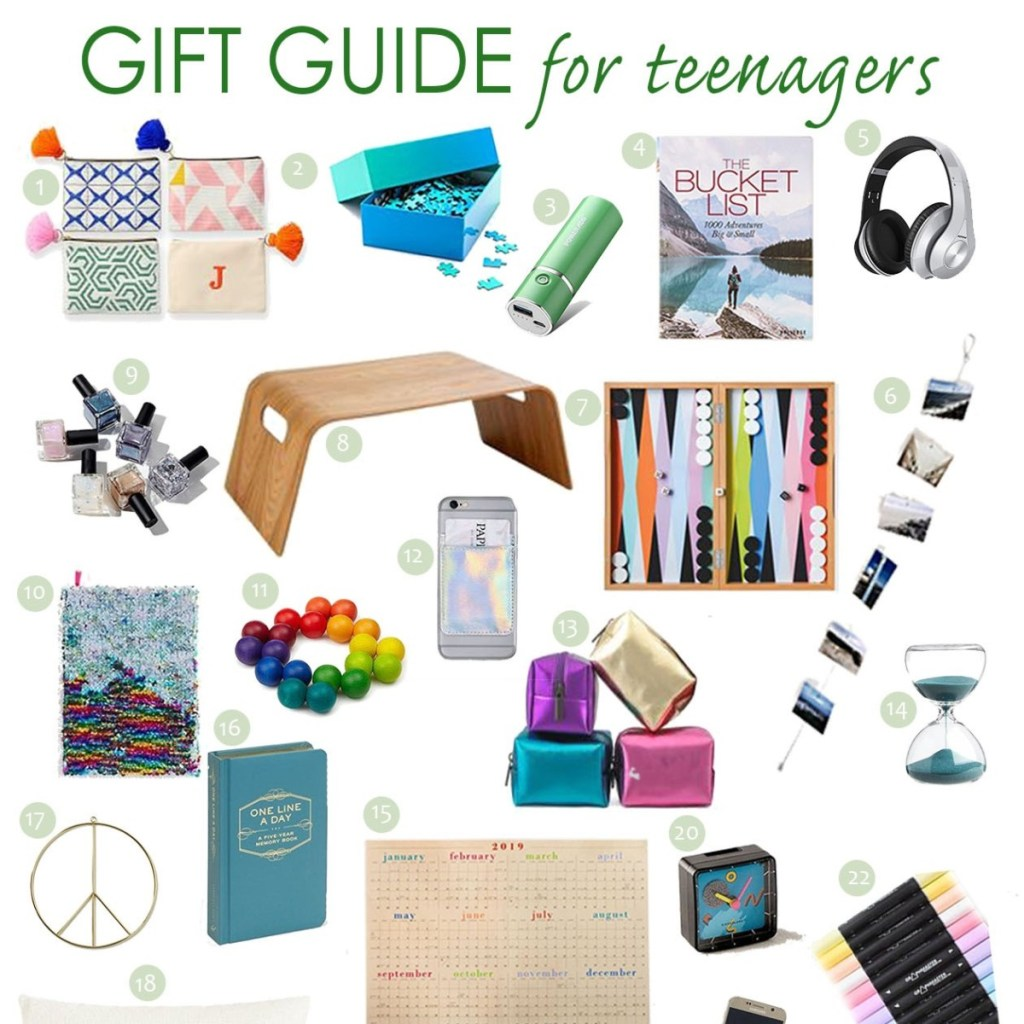 gift guide for teenagers