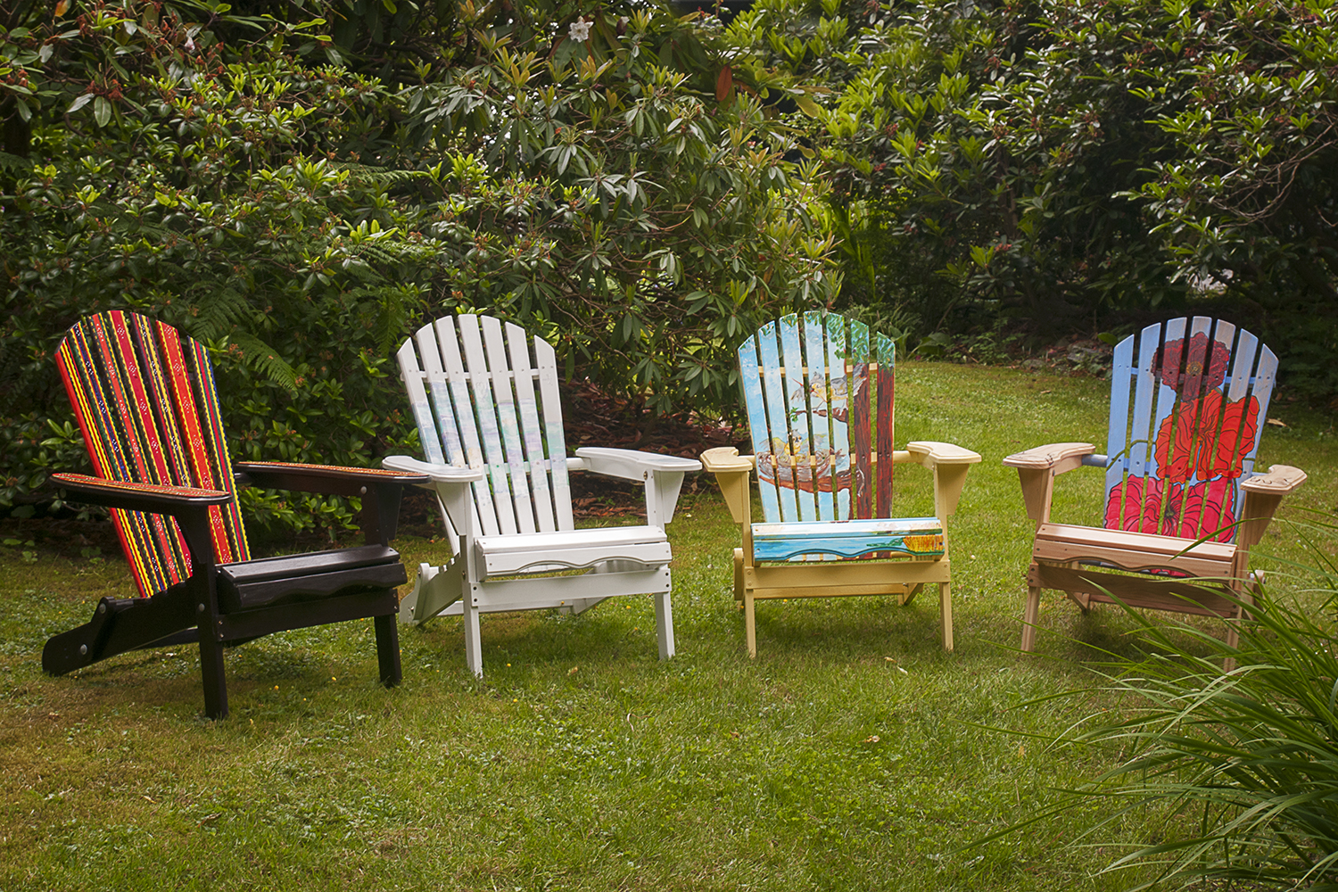 painted adirondack chairs where to buy back support for chair artist arts at darts what expect an outdoor art show
