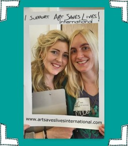 Team Member Lisa Reeve with ASLI Volunteer Sarah Coats