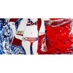 'America Comeback', Miravillage, 2013, acryl and ink on canvas, 169 cm x 86 cm