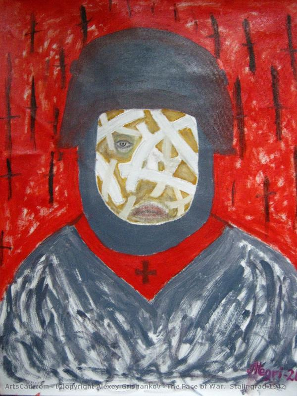 Le Visage De La Guerre : visage, guerre, Oeuvre, Alexey, Grishankov, Visage, Guerre, Stalingrad-1942