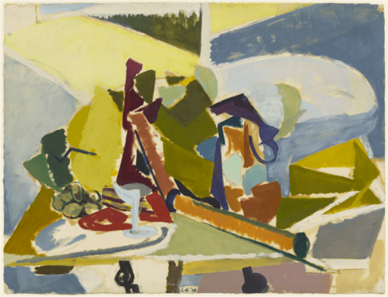 """Lee Krasner Still Life 1938 Oil on Paper 19 x 25"""" Owned by MoMA, New York"""