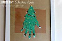 Framed Handprint Family Christmas Tree Craft | Arts & Crackers