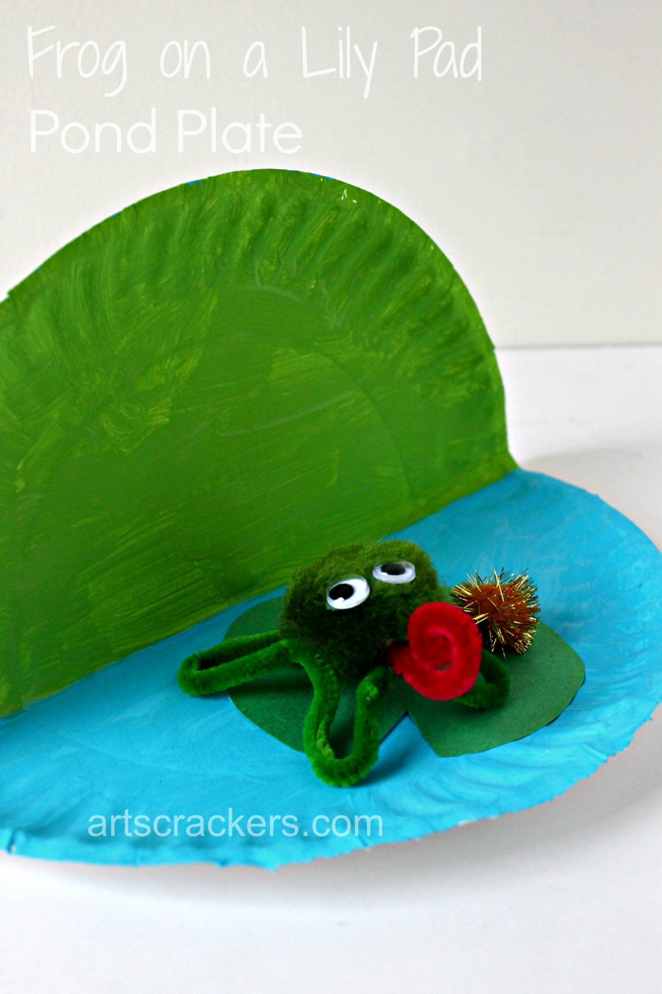Diy Frog On A Lily Pad Pond Plate Craft